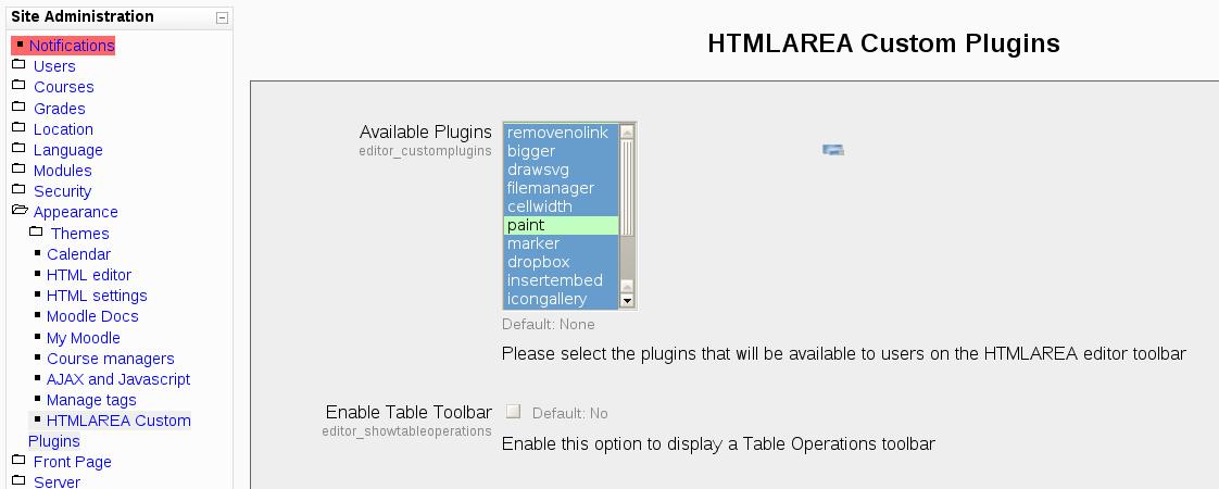 CONTRIB-2730] HTMLAREA Editor custom plugin framework support ...