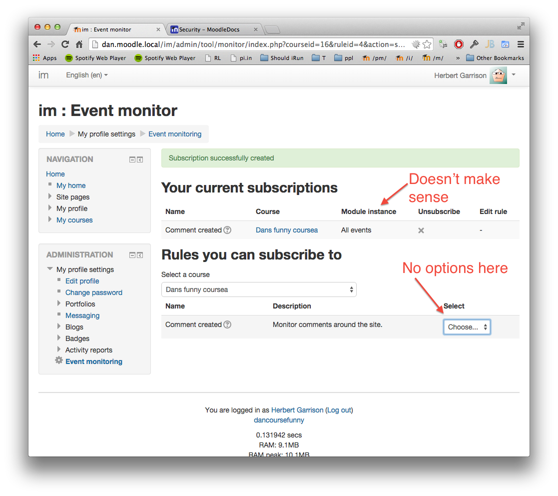MDL-45758] [Epic] Create an Event Monitor tool - Moodle Tracker