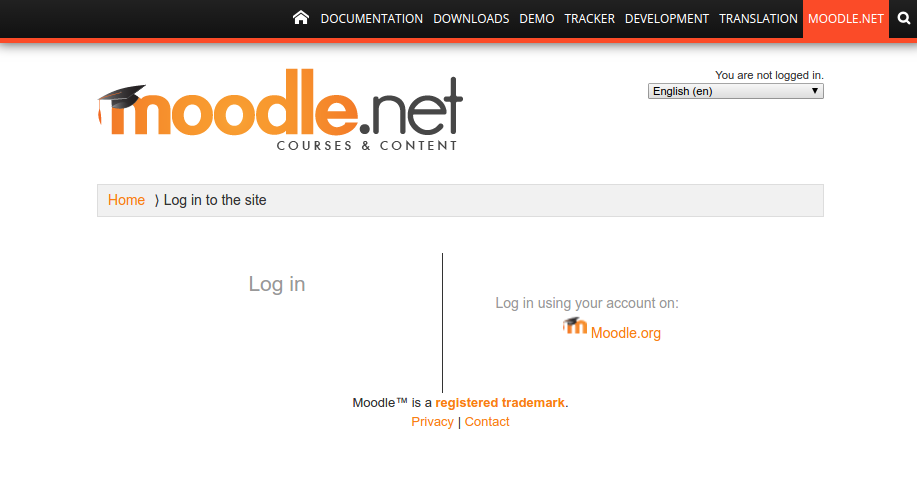 [MDLSITE-5175] Not possible to log in to Moodle.net ...