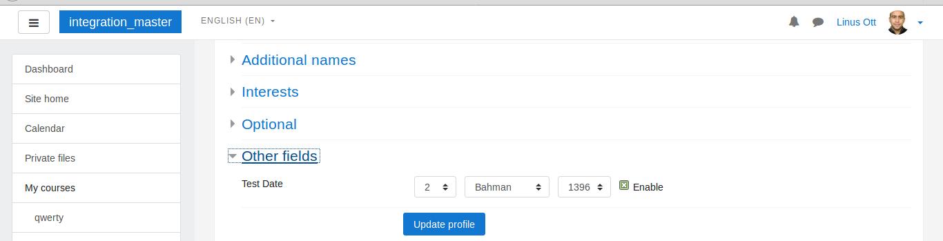 MDL-61027] User profile field datetime with persian calendar