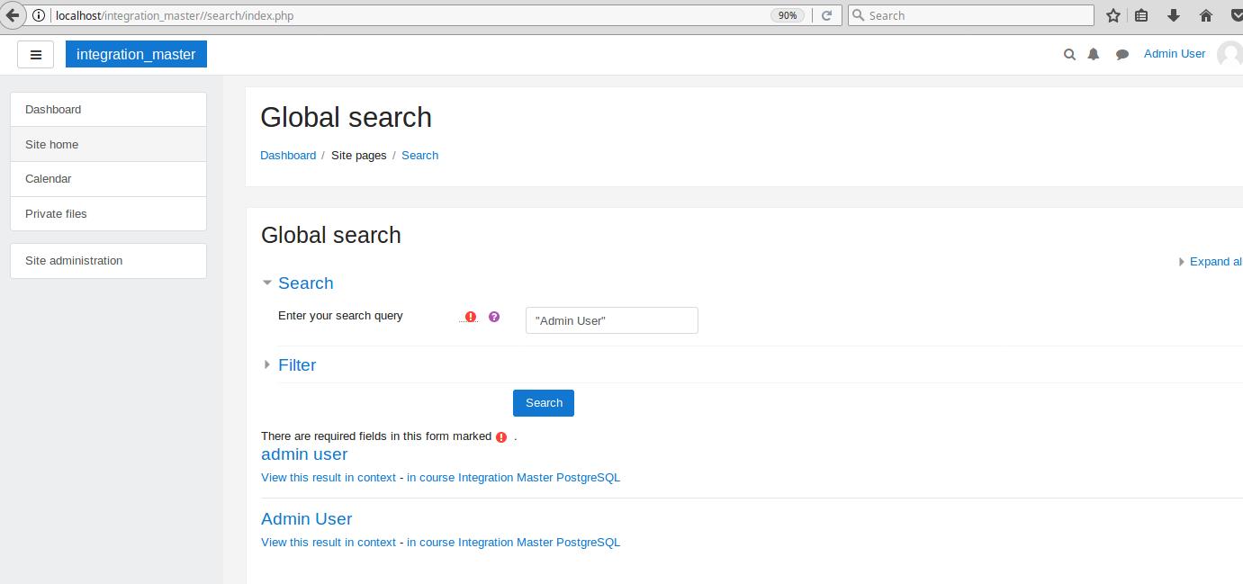 MDL-53226] Add moodle DB search engine - Moodle Tracker