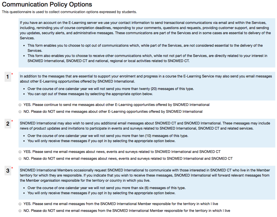 MDL-62309] Make site policies required or optional, distinguish on ...
