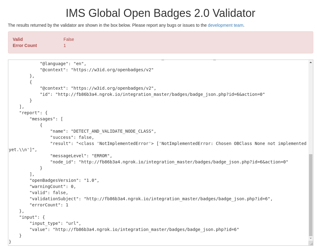 MDL-58454] Upgrade Moodle Badges to apply Open Badges Specification