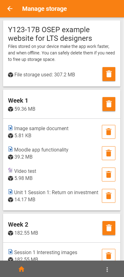 MOBILE-2905] Allow user to manage storage within course - Moodle Tracker