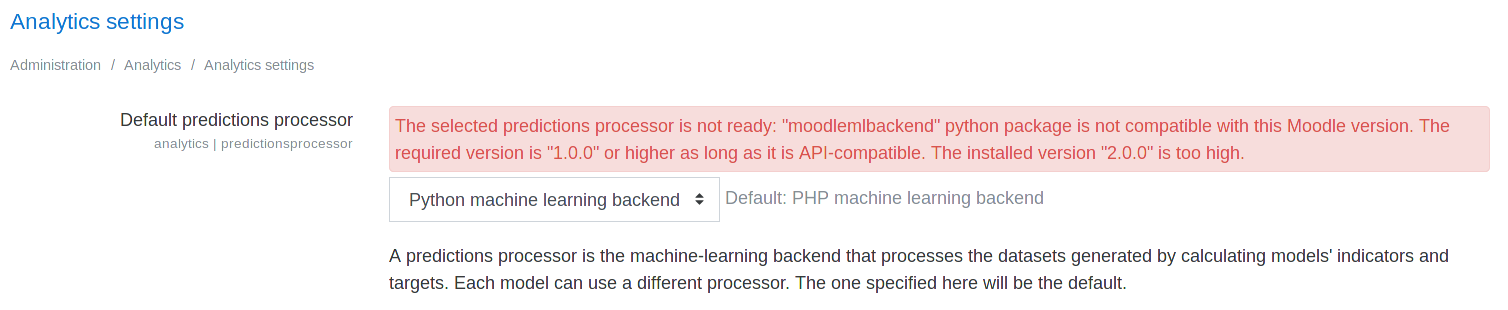 MDL-64994] Unable to use latest Python machine learning